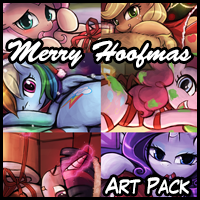 Merry Hoofmas Art Pack!
