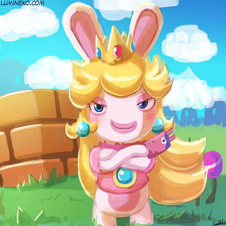 Speed Paint – Rabbid Peach