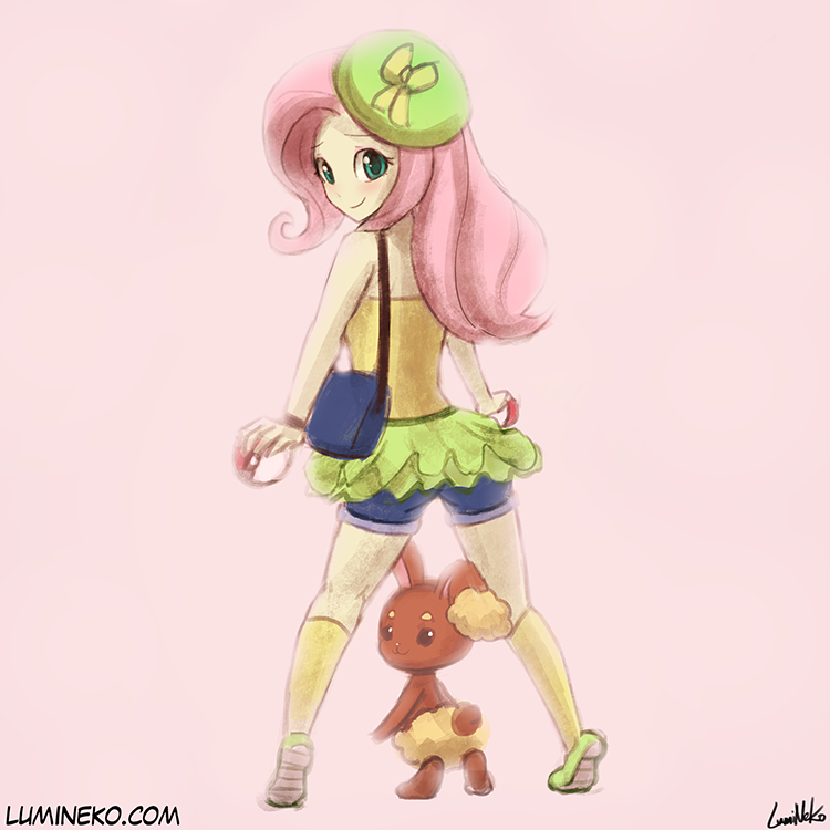 Speed Paint – Pokemon Trainer Fluttershy