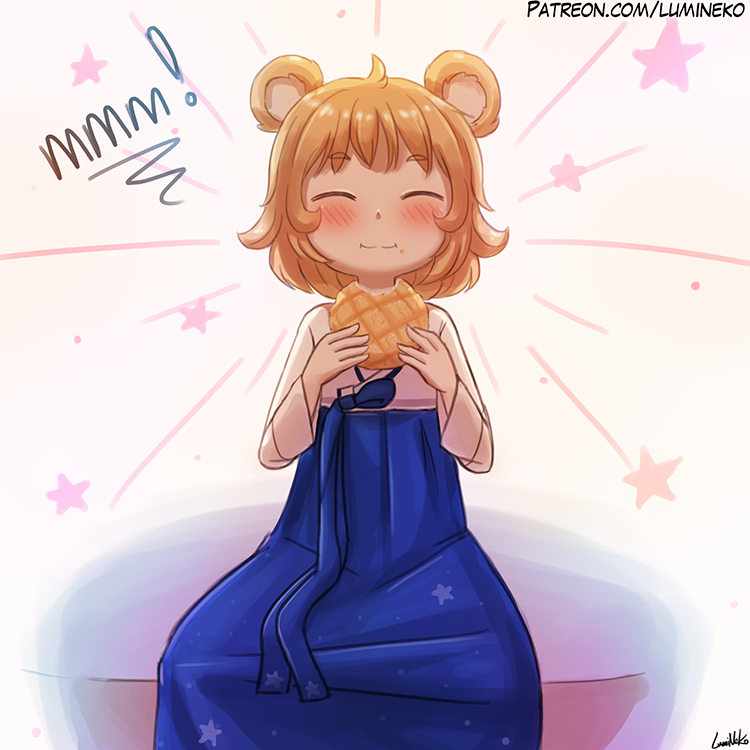 Mayllina Loves Melon Bread!