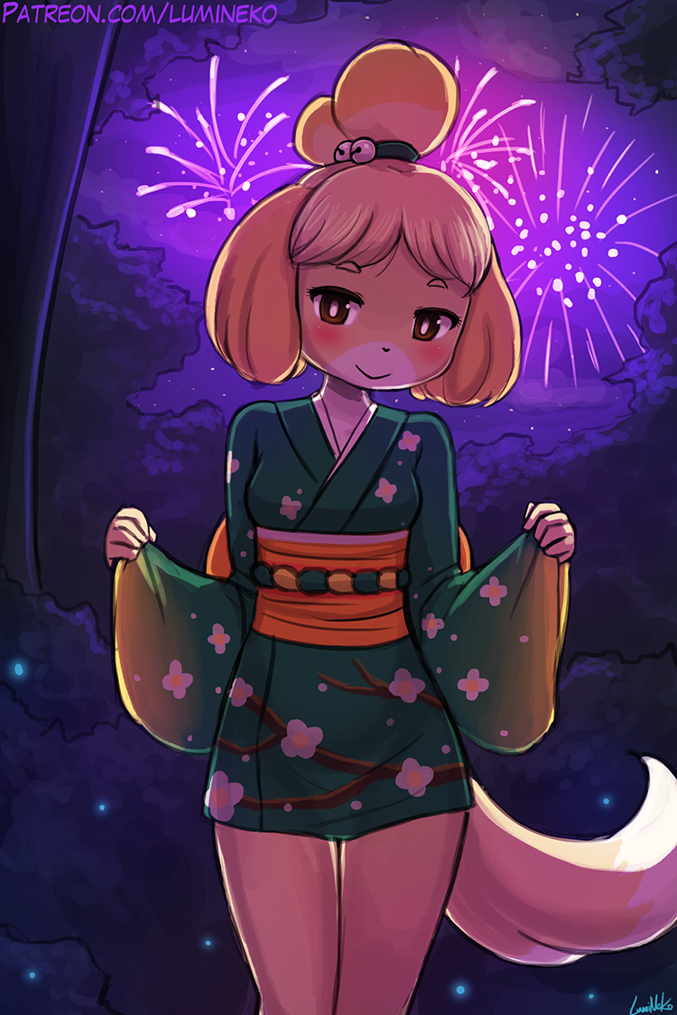 Fireworks with Isabelle