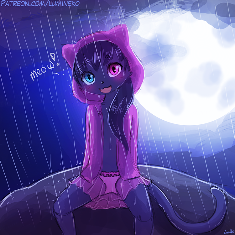 Speed Paint – Meowwying in the Rain
